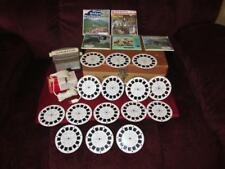 Vintage Lot Sawyer View Master Lighted Viewer~15 Reels~Transformer and Case EUC