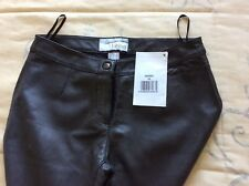 Heine leather trousers 12/14 new with tags