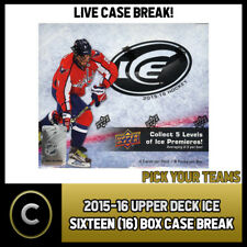 2015-16 UPPER DECK ICE 16 BOX MASTER CASE BREAK #H055 - PICK YOUR TEAM -