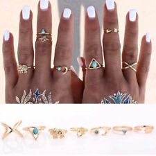 Jewelry Leaf Finger Hot Natural Gypsy Silver Rings Turquoise Vintage Elephant