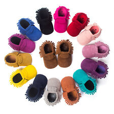 Moccasin New Soft Sole Tassel Leather Baby Shoes Boy Girl Infant Toddler Christ