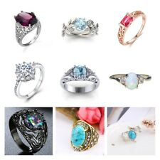 Fashion Women Creative Ring Charm Wedding Party Engagement Jewelry Rings Gifts