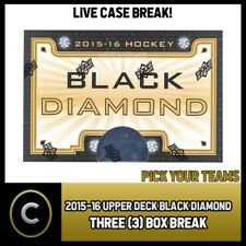 2015-16 UPPER DECK BLACK DIAMOND 3 BOX CASE BREAK #H074 - PICK YOUR TEAM -