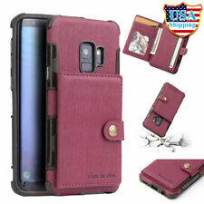 For Samsung Galaxy Note 9/8 S9/S8+ Plus Magnetic Leather Case Card Slot Cover