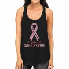 I You We Can-Cervive Breast Cancer Womens Black Tank Top