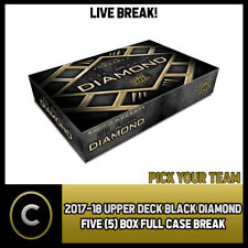 2017-18 UPPER DECK BLACK DIAMOND 5 BOX FULL CASE BREAK #H142 - PICK YOUR TEAM -