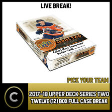 2017-18 UPPER DECK SERIES 2 - 12 BOX FULL CASE BREAK #H147 - PICK YOUR TEAM -