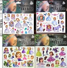 Sofia the First Kids Temporary Tattoo Stickers Birthday Party Supplier Flavours