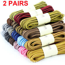 Round Shoelaces Strong Shoe Laces Shoetrings Ropes Boots Stripe Hiking Sports