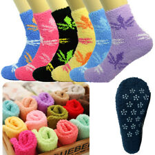 3-10 Pairs For Womens Soft Cozy Fuzzy Socks Non-Skid Maple Home Warm Slipper