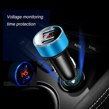 Fast Charging Car Charger Voltage Monitoring Dual USB 3.1A Quick 3.0 LED Kit