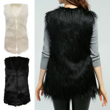 Womens Faux Fur Body Warmer Sleeveless Vest Waistcoat Gilet Jacket Coat Top