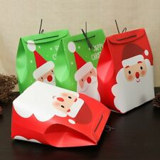Merry Christmas Party Paper Favour Gift Sweets Carrier Bags Boxes Red