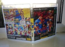Sega Saturn replacement game case and Covers done Clear BluRay cases