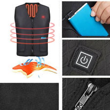 Electric USB Heated Warm Vest Jacket for Winter Motorcycle Outdoor Durable B0T4