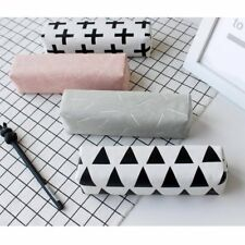 Student Canvas Cosmetic Makeup Bag Pen Pencil Stationery Case Zipper Pouch Box