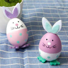 3x Bunny Plastic Easter Egg Ornament Easter Theme Party Gifts Favors Decor