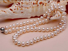 Female Pathetic Earrings Lovely Necklace Sets Chain Freshwater Pearl Jewelry Set