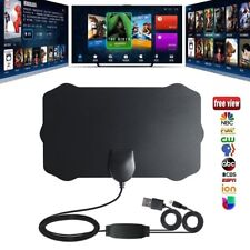 HDTV Indoor Antenna Aerial HD Digital TV Signal Amplified Booster 50/80 Miles
