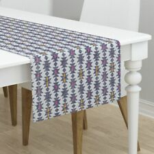Table Runner Tribal Holli Zollinger Pink Yellow Cotton Sateen