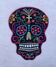 Sugar Skull Day of the Dead Candy Skulls Calavera Embroidered Sew Iron On Patch