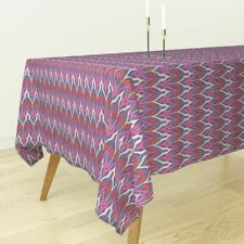 Tablecloth Tribal Pink Orange Blue Holli Zollinger B182 Cotton Sateen