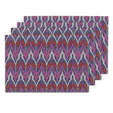Cloth Placemats Tribal Pink Orange Blue Holli Zollinger B182 Set of 4