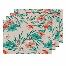 Cloth Placemats Wildflower Pink Flower Floral Retro Holli Zollinger Set of 4