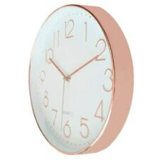 Decorative Wall Clock Universal Silent Quartz Round Shape Modern Non-Ticking