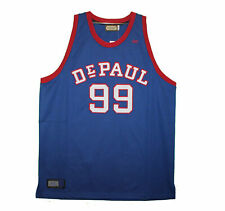 Depaul Blue Demons - Embroidered Blue Mikan Vintage Throwback Jersey