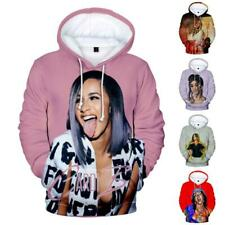 Cardi B Mens Womans Hoodie Cotton Pullover Music Fans Sweather 3D Print Tops
