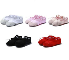 New Kids Child Adult GYM Ballet Dance Shoes Girls Canvas Slippers Pointe Dance