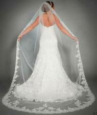 Single Lace veil White/ivory Bridal Cathedral Veil  Bride Wedding Vail Comb