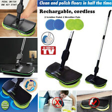 Spin Maid Rechargeable Cordless Floor Cleaner Scrubber Polisher Rotating Mop Top