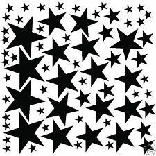68 Black Stars Wall Sticker Decals Art Graphics Decor