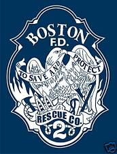 BOSTON FIRE DEPARTMENT RESCUE 2 T-SHIRT, FIREFIGHTING