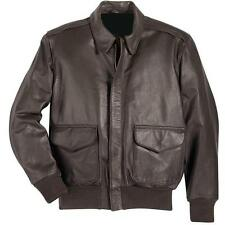 MENS NEW A2 LEATHER BOMBER MILITARY AIR FORCE VINTAGE FLIGHT PILOT JACKET USAF