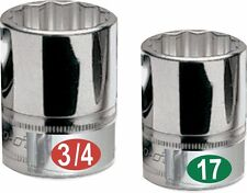 Chrome Socket Labels for mechanics & home craftsman decals for sockets and tools