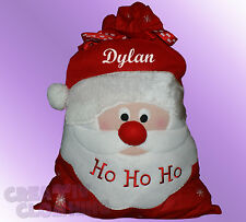 Christmas Santa Sack stocking PERSONALISED with name