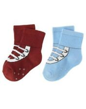 GYMBOREE TINY PIRATES BLUE N RED 2-PAIR OF BOYS SOCKS 0 3 6 12 18 NWT