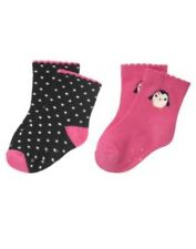 GYMBOREE POLKA DOT PENGUIN DOT N PENGUIN 2-PAIR OF SOCKS 0 3 6 12 18 24 NWT