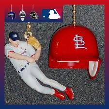 ST. LOUIS CARDINALS FIELDING PLAYER & HELMET OR LOGO BASEBALL CEILING FAN PULLS