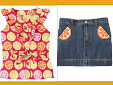 NWT Girls Sz 6 Gymboree CITRUS COOLER Belted Top Shirt Demon Jean Skort Skirt
