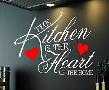 WALL ART STICKER QUOTE KITCHEN HEART HOME DINING ROOM