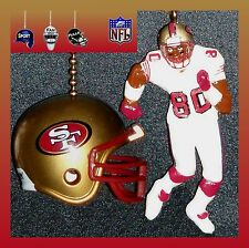 NFL FOOTBALL SAN FRANCISCO 49ERS HELMET & RICE FAN PULL