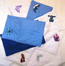 ASSORTED HANDMADE EMBROIDERED BURP CLOTHS ( YOU CHOOSE)