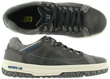 CATERPILLAR CAT APA TX LEATHER TRAINERS Black/Grey