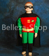 Muscle Robin Superhero Costume Cosplay Outfit Halloween Party Size 2T-7 FC007B