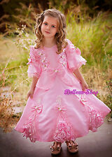 Girls Vintage Victorian Party Princess Costume Dress Toddler Kid Size 2T-9 VD002