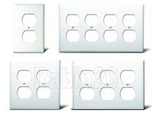 DUPLEX OUTLET PLASTIC WALL COVER PLATE 1 2 3 4 GANG WHITE